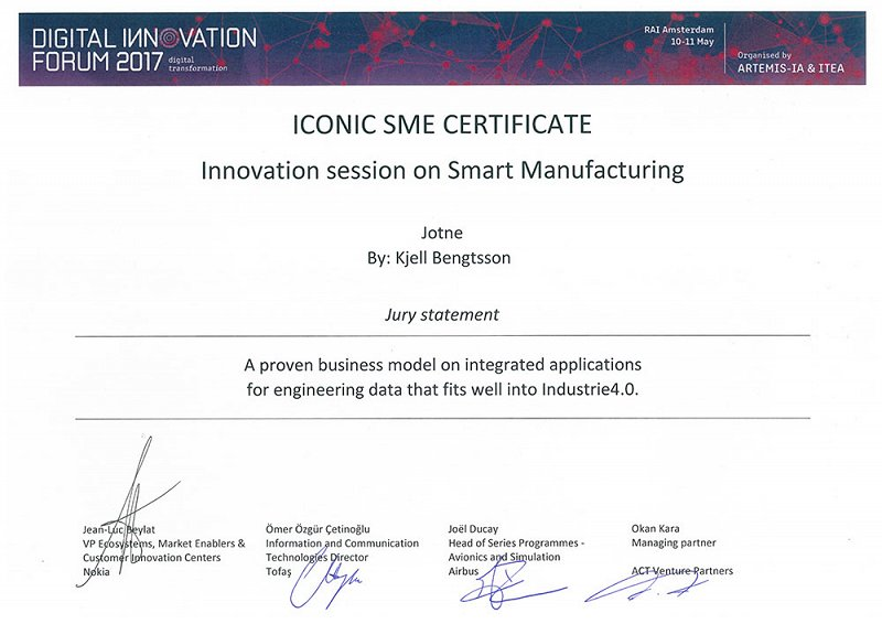 DIF2017 Iconic SME certificate